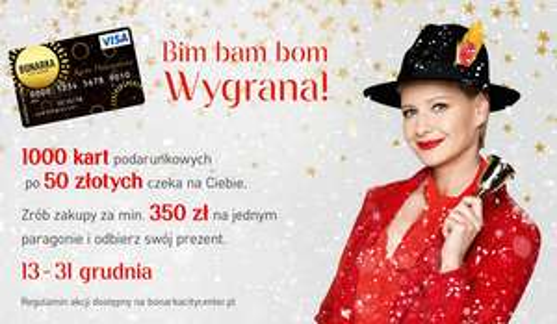 [Kraków] CH Bonarka - karta podarunkowa 50 zł za zakupy min. 350 zł