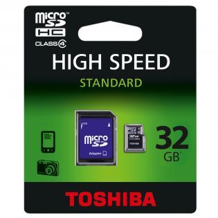 Toshiba microSDHC 32GB class 4 za 39zl @ Redcoon.pl