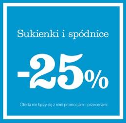25% rabatu na wszystkie sukienki i spódnice @ New Look