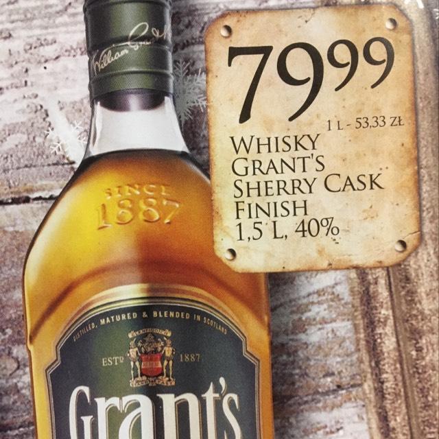 Znowu whisky Grant's 1,5l cask edt. Dino