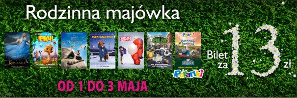 Bilety po 13zł na wybrane animacje w dniach 1-3 maja @ Multikino