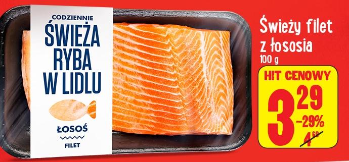 Filet z łososia w cenie 3,29zł za 100g @ Lidl