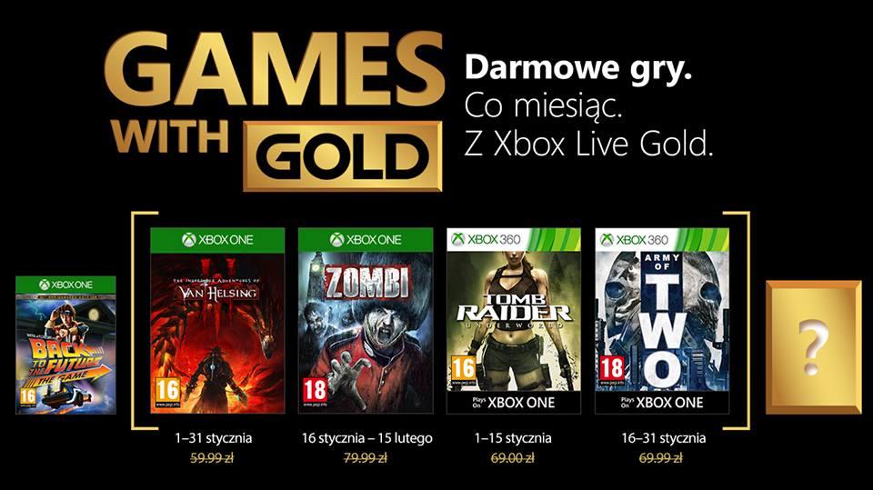 Games With Gold Styczeń 2018 Xbox