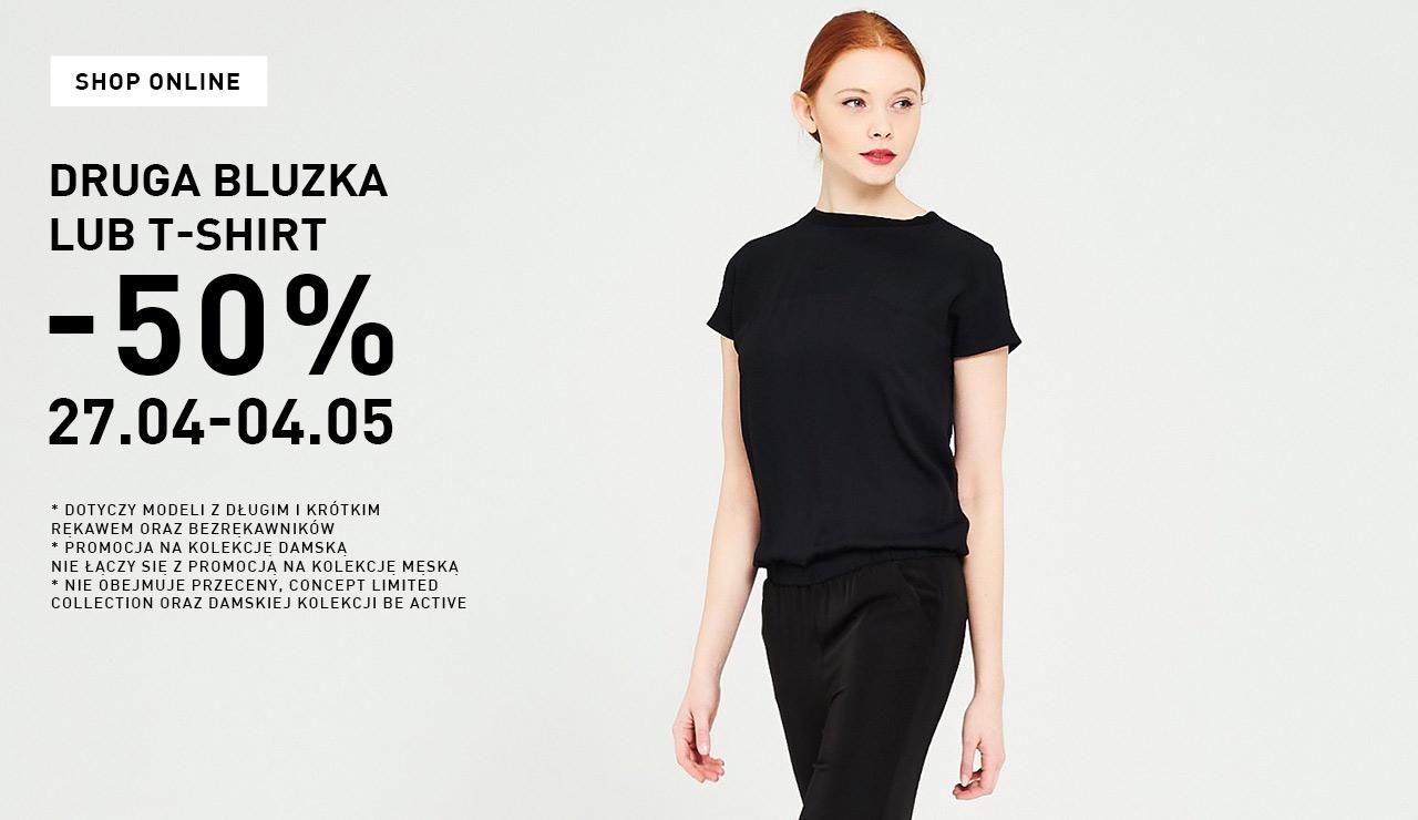 Rabat 50% na drugą rzecz z kategorii bluzka/t-shirt @ Reserved