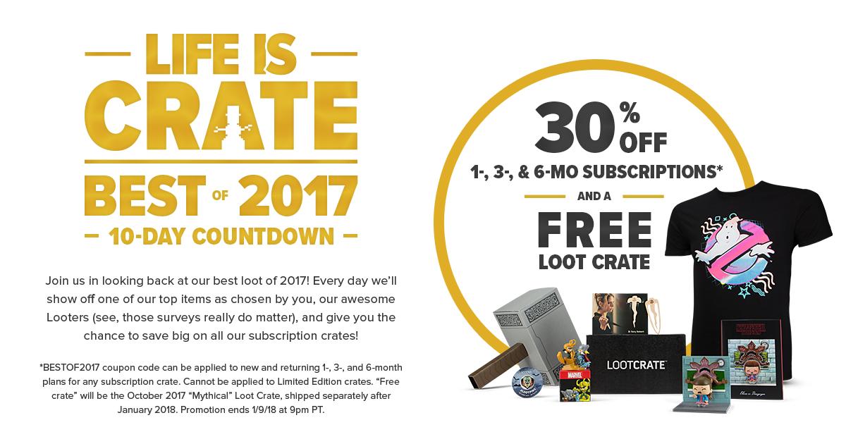 -30% na dowolny lootcrate + dodatkowo jeden gratis