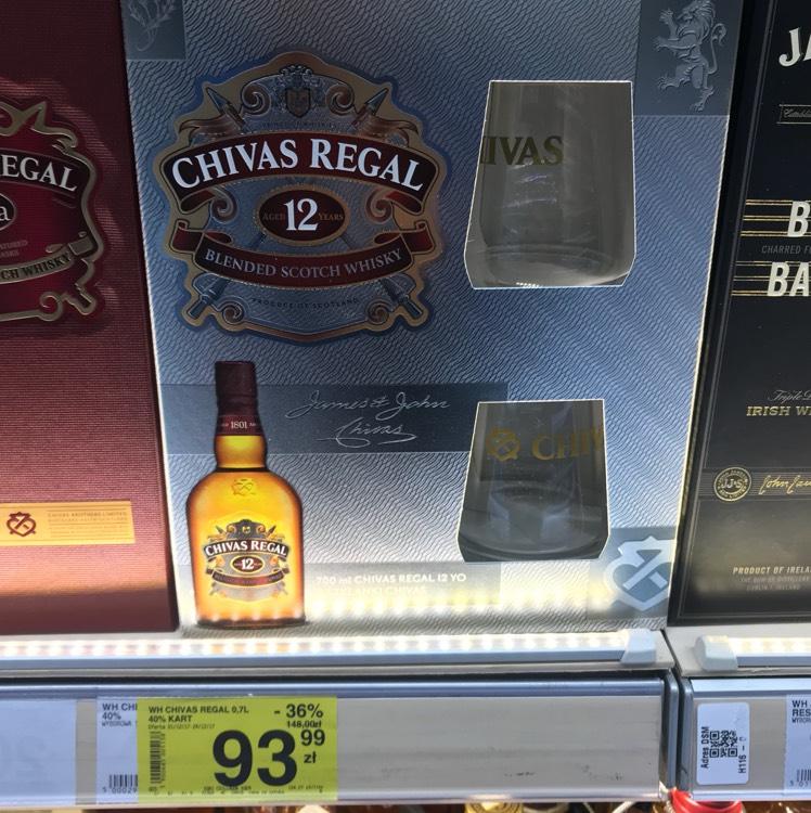 Chivas 0,7 L + dwie szklanki