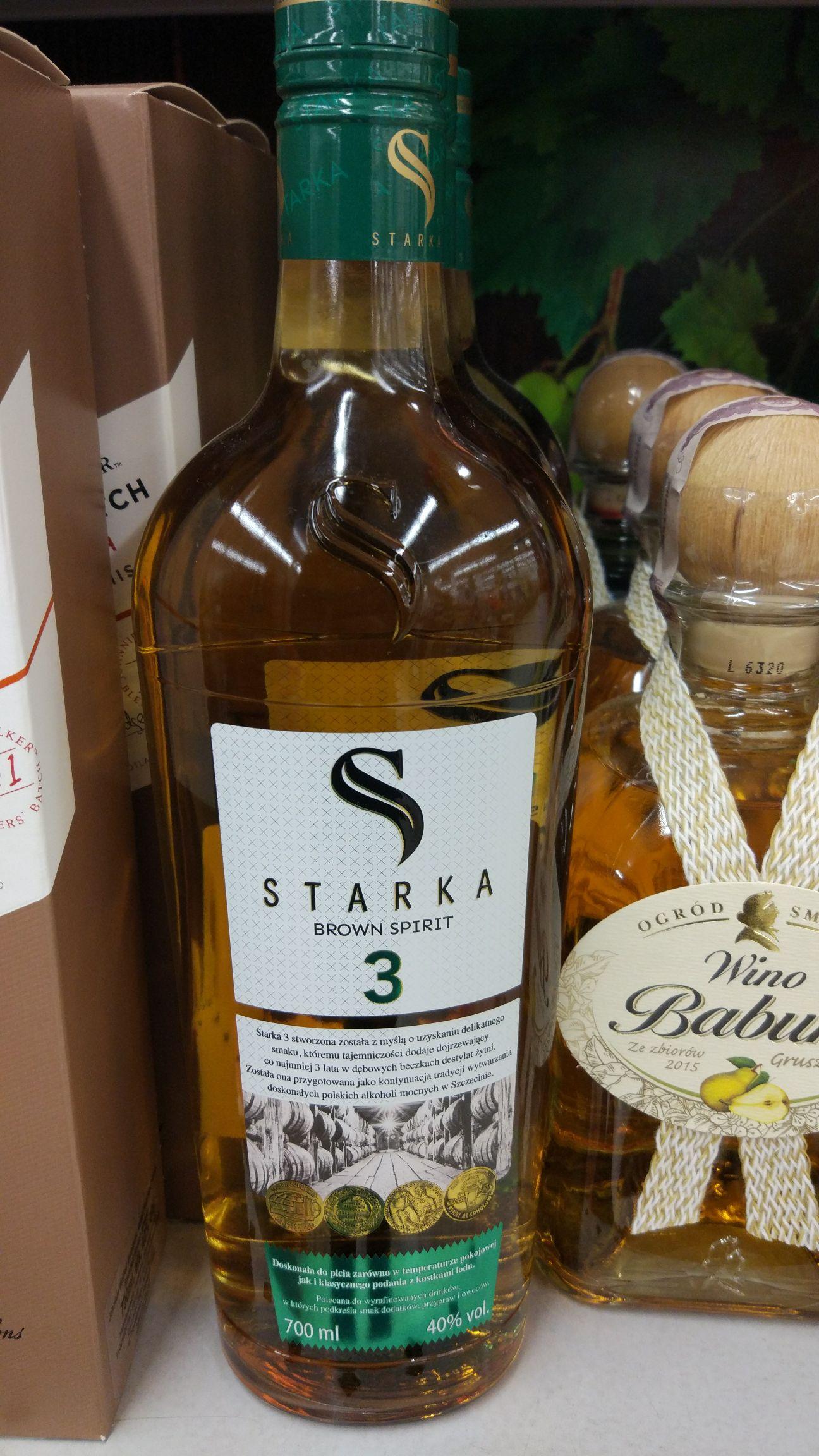 Wódka STARKA 3 letnia Brown Spirit - Biedronka