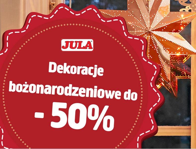 Jula - wyprzedaż artykułów bożonarodzeniowych do -50%