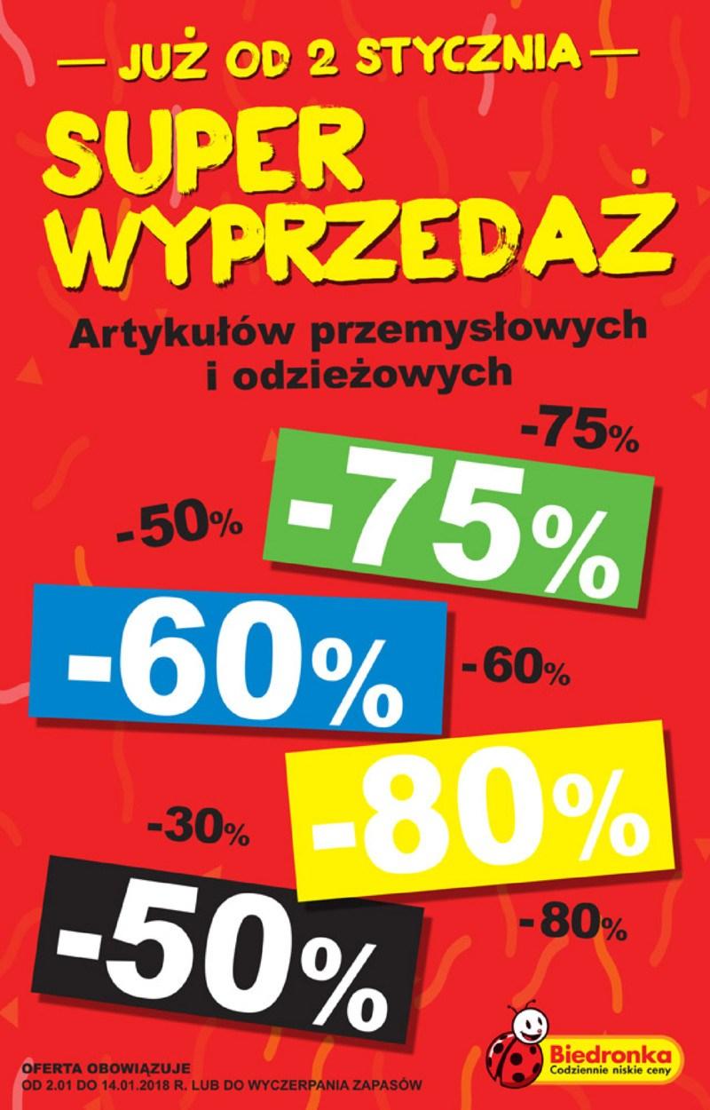 @Biedronka Wyprzedaż artykułów przemysłowych i odzieżowych do -80%