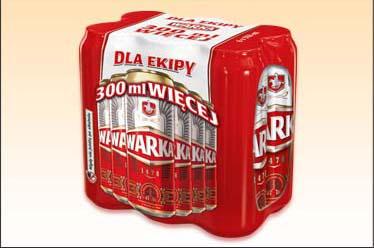 Piwo Warka 6x0,55 l za 11,99 zł @ Biedronka