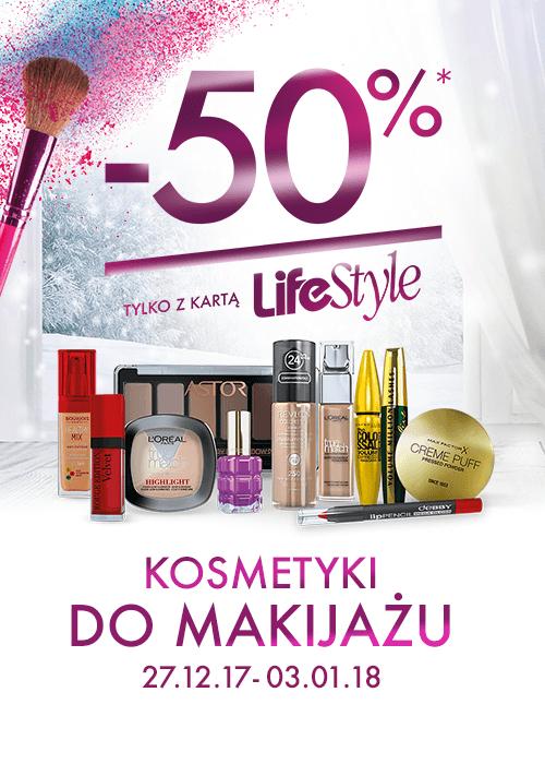 -50% na wszystkie kosmetyki do makijażu (z kartą) @ Super-Pharm
