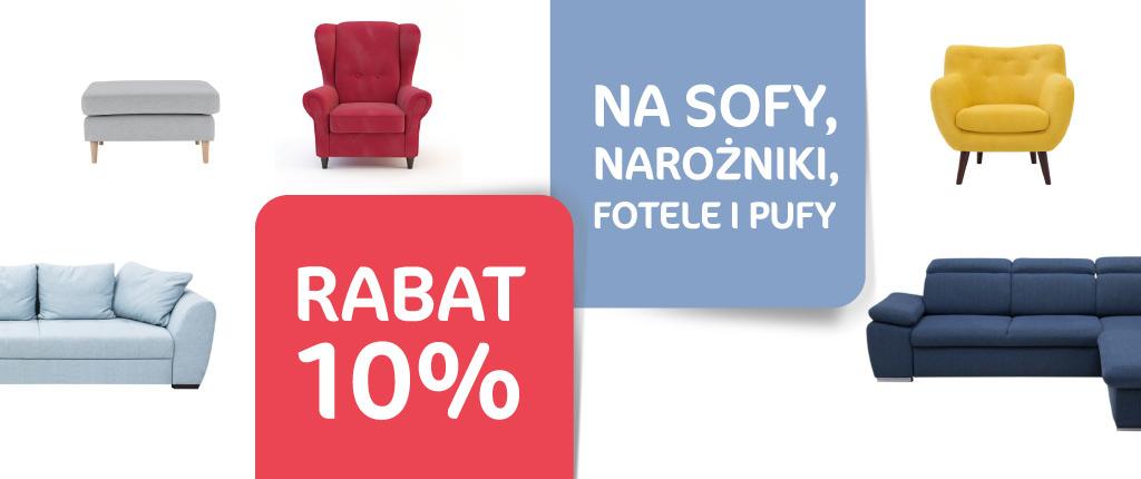10% rabatu na sofy, narożniki, fotele i pufy @ Agata Meble