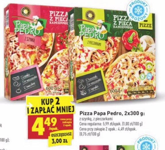 2x Pizza Papa Pedro z pieca Biedronka
