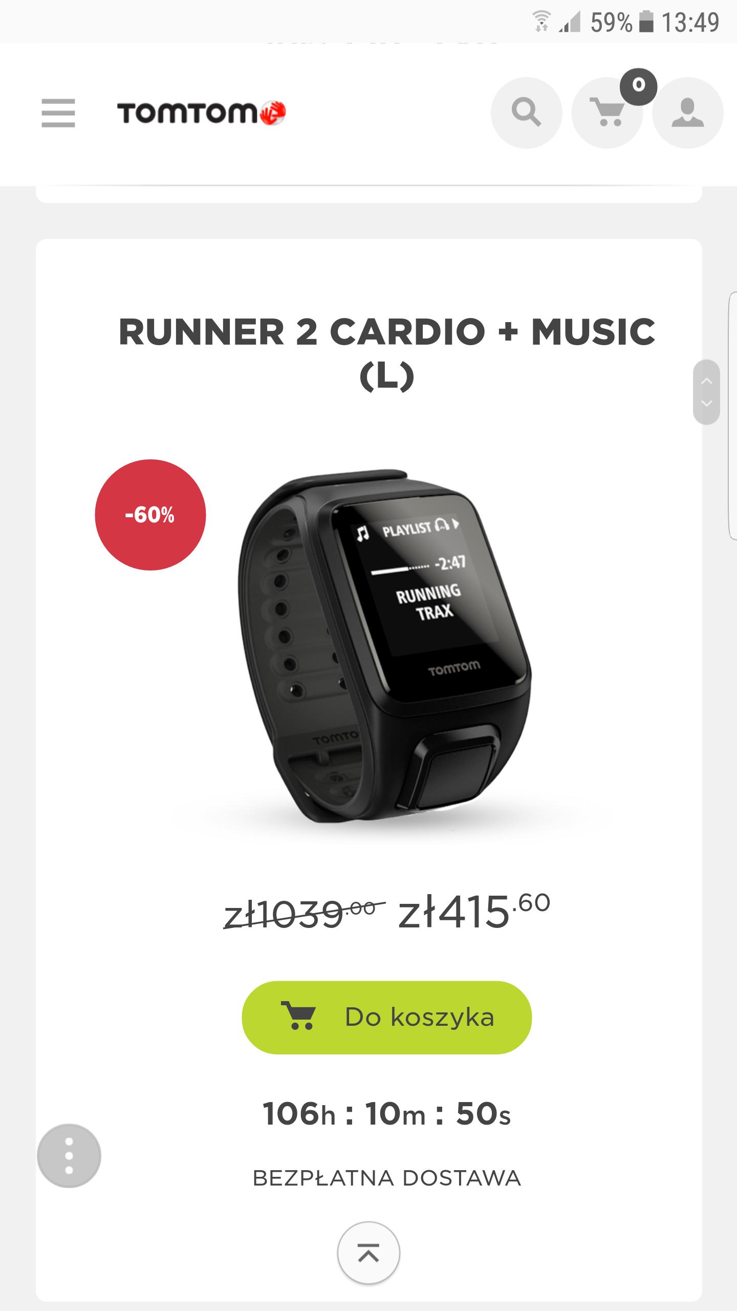 Tomtom Runner 2 Cardio + Music