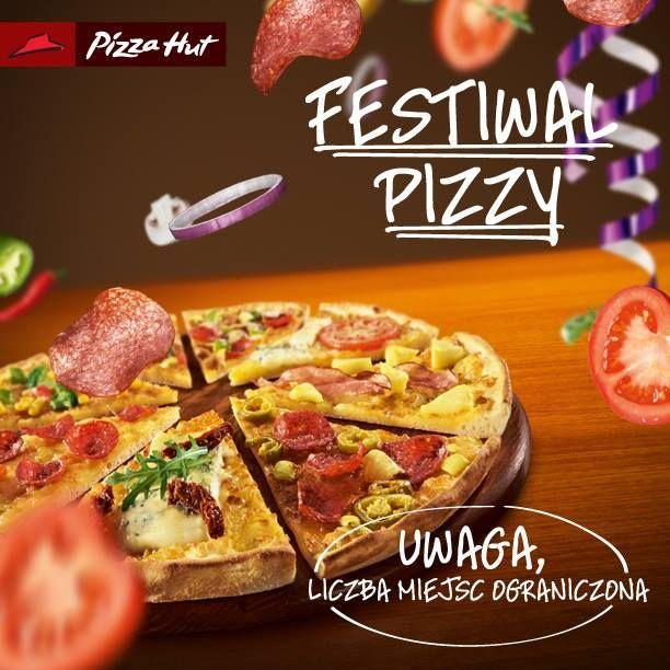 Festiwal Pizzy w Pizza Hut - Jesz ile chcesz za 27.95 lub 34.95 z wielką dolewką