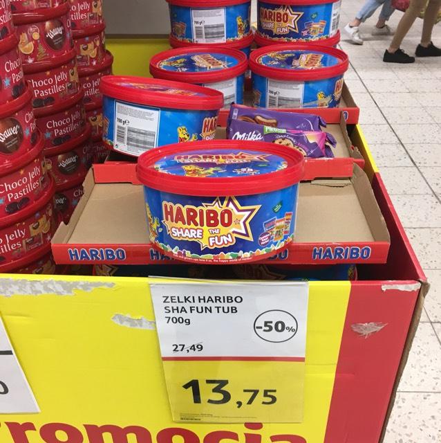 700g mieszanka Haribo (i inne słodycze) w Tesco