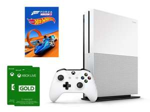 Xbox One S 500GB + FH3 Hot Wheels + XBL 6M z Polski