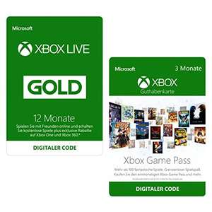 12m Xbox Live Gold + 3m Xbox Game Pass