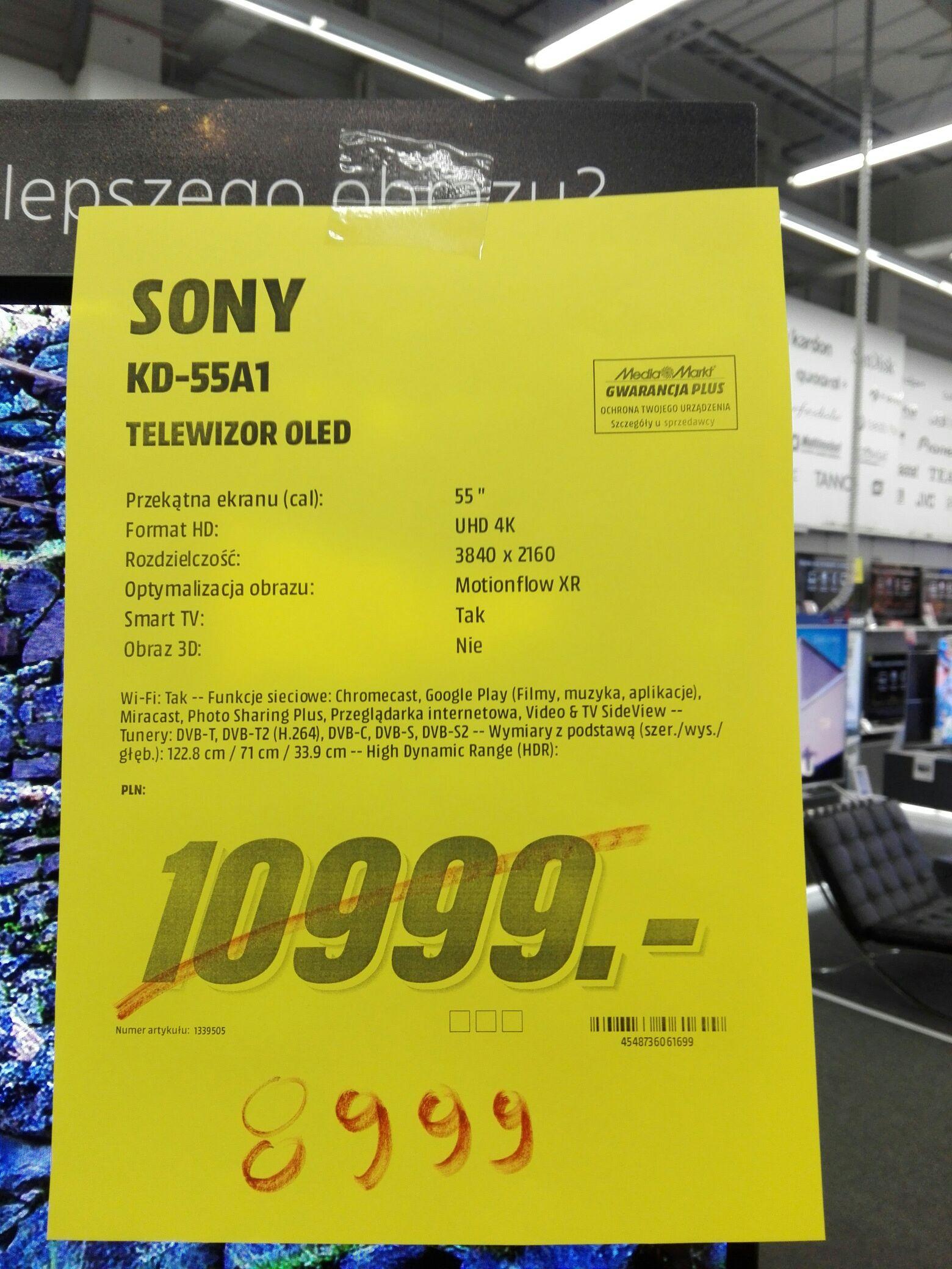 Telewizor 55cali Sony KD-55A1 @ Media Markt