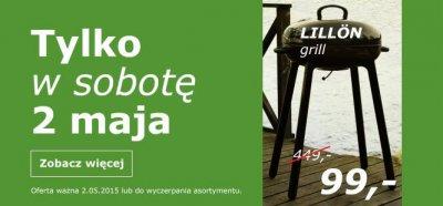 LILLÖN Grill węglowy w Ikea Wrocław przecena z 449 zł