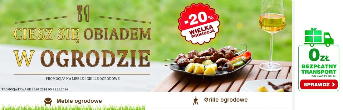 20% rabat na wszystkie GRILLE oraz MEBLE OGRODOWE @ OleOle!
