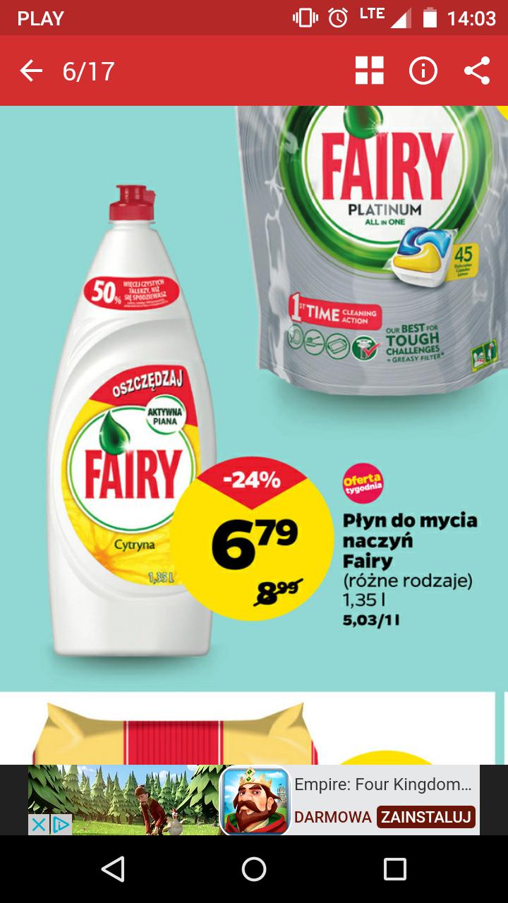 Fairy - płyn do mycia naczyń - NETTO