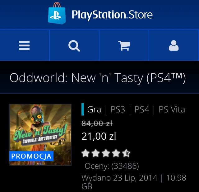 Oddworld: Abe's Oddysee, New 'n' Tasty na PS4, PS3 i PS Vita (PSN) za 21 PLN