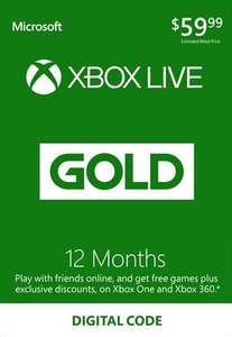 Xbox Live Gold 12 miesięcy za 35,71€