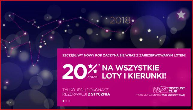 -20% na Loty Wizzair dla członków WDC