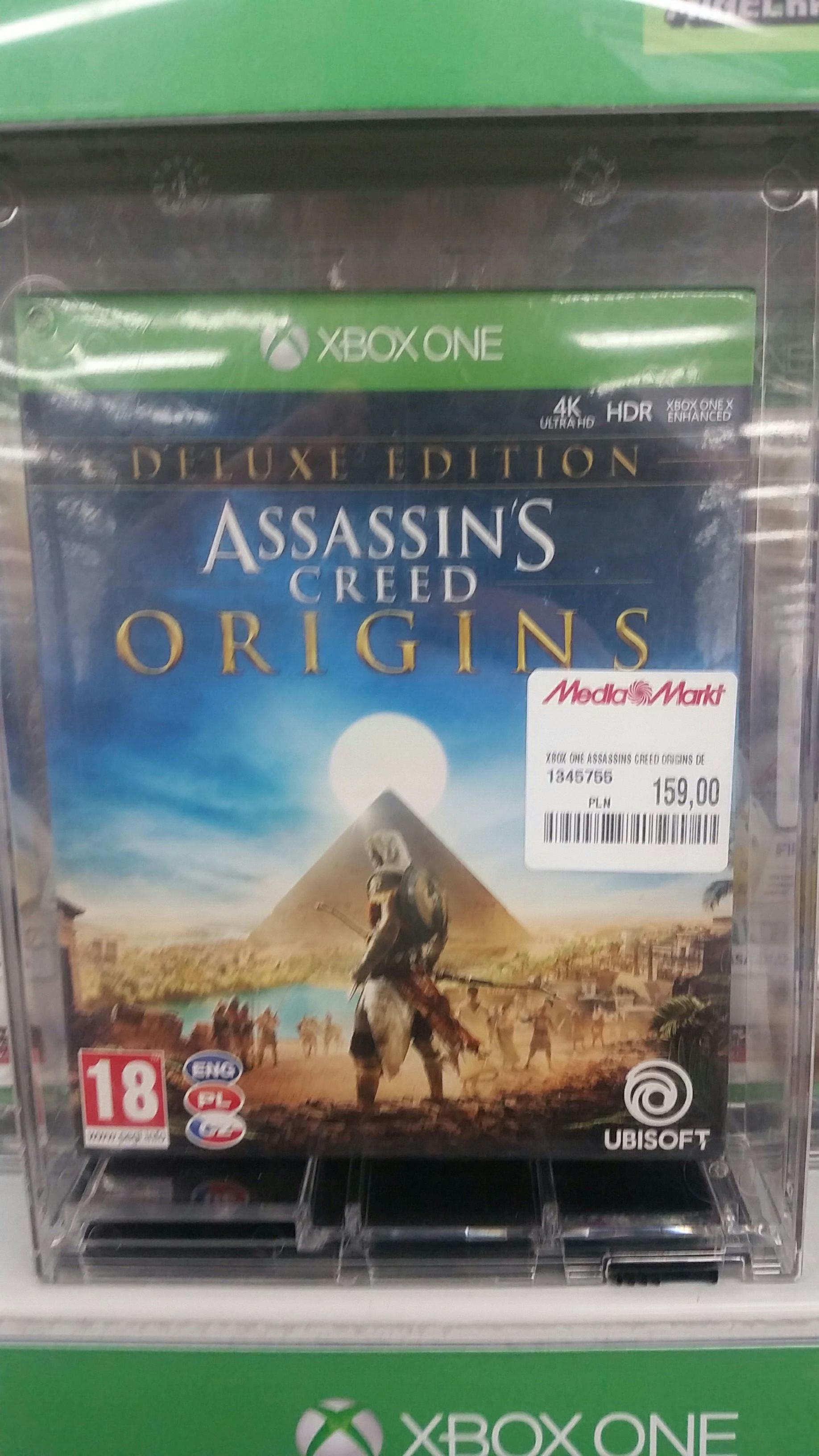 Assassin's Creed Origins Edycja Deluxe na PS4 i Xbox One za 159 w Saturn i Mediamarkt
