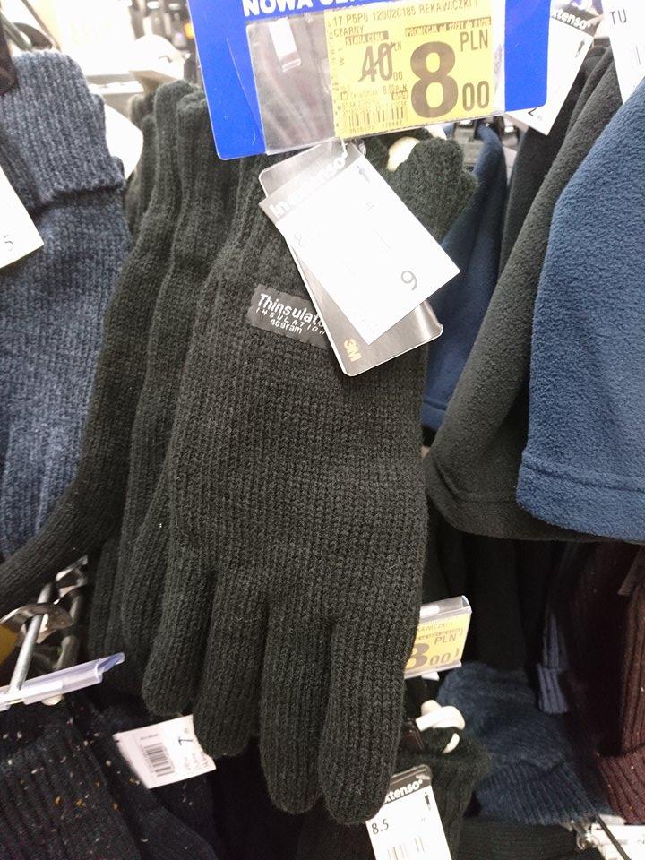 """Rękawiczki zimowe znanej firmy krzak """"In Extenso"""" z dodatkiem  Thinsulate 40 gramów  Auchan  ;)"""