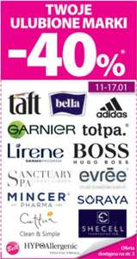 [Od 11.01] -40% na wybrane marki @ Hebe