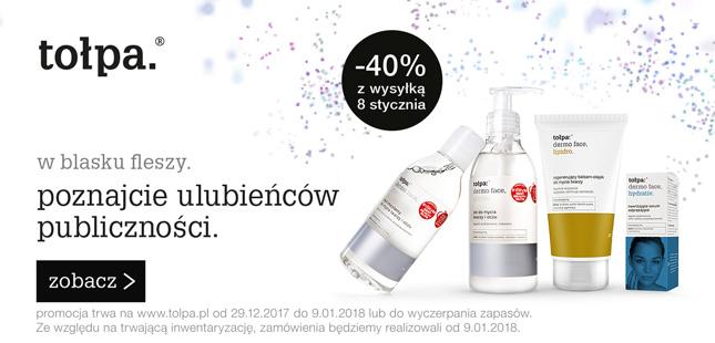 40% rabatu na bestsellery @ Tołpa