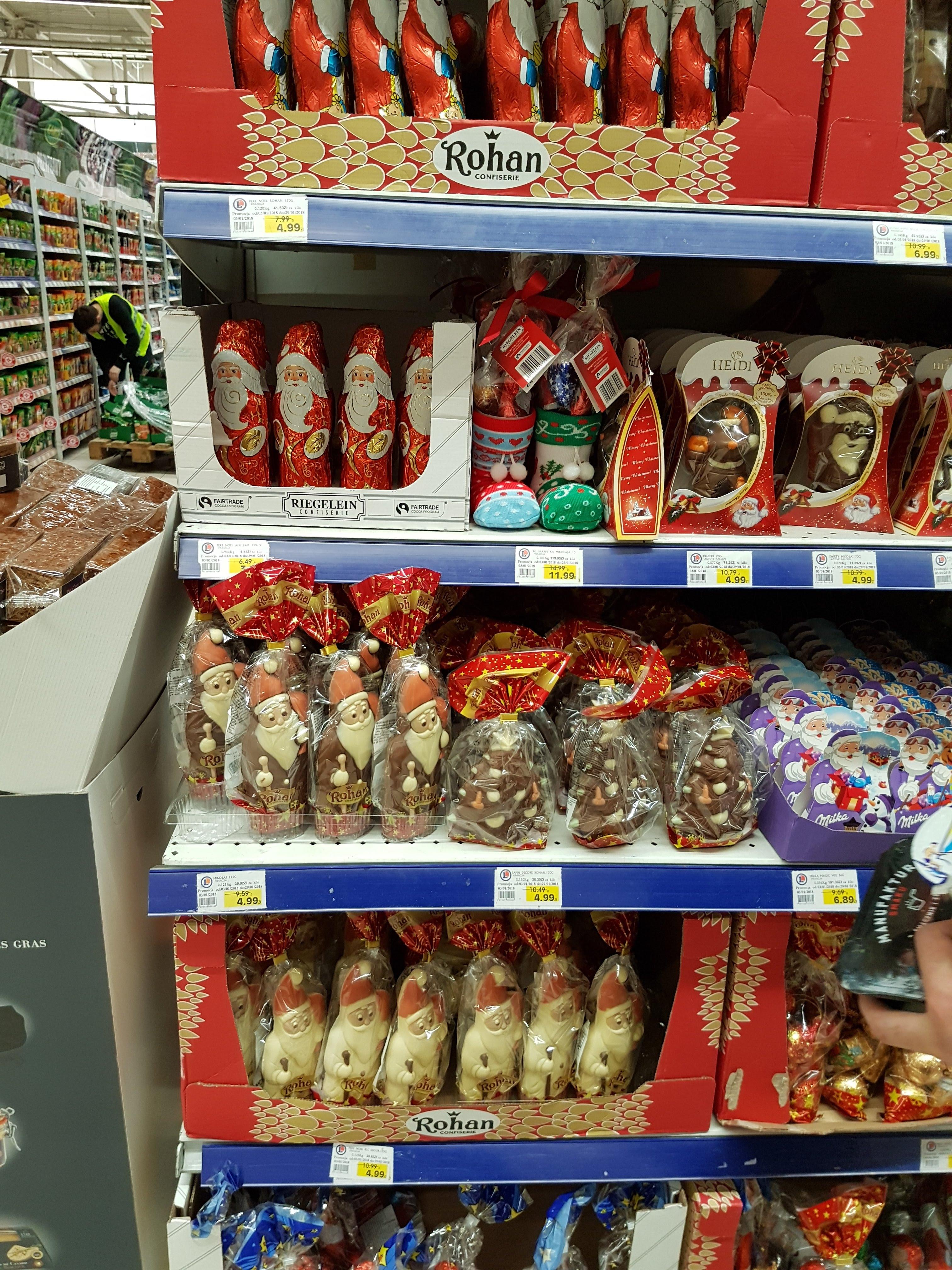 Słodycze świąteczne, mikołaje, renifery - Rohan, Heidi - E.Leclerc W-wa Jerozolimskie