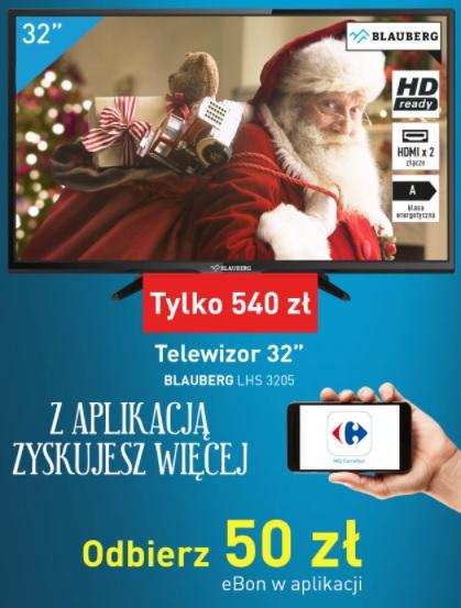 "Telewizor BLAUBERG 32"" + Bon 50 zł / XBOX / XIAOMI @Carrefour"