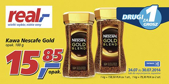 Kawa Nescafe Gold Blend 2x100g za 15.86zł @ Real