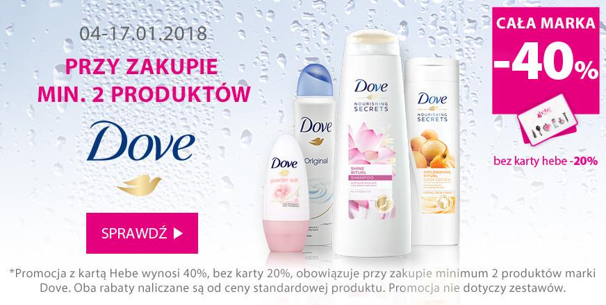 -40% na markę Dove przy zakupie dwóch produktów @ Hebe