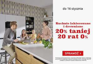 20% rabatu na kuchnie + 20 rat 0% @ Black Red White