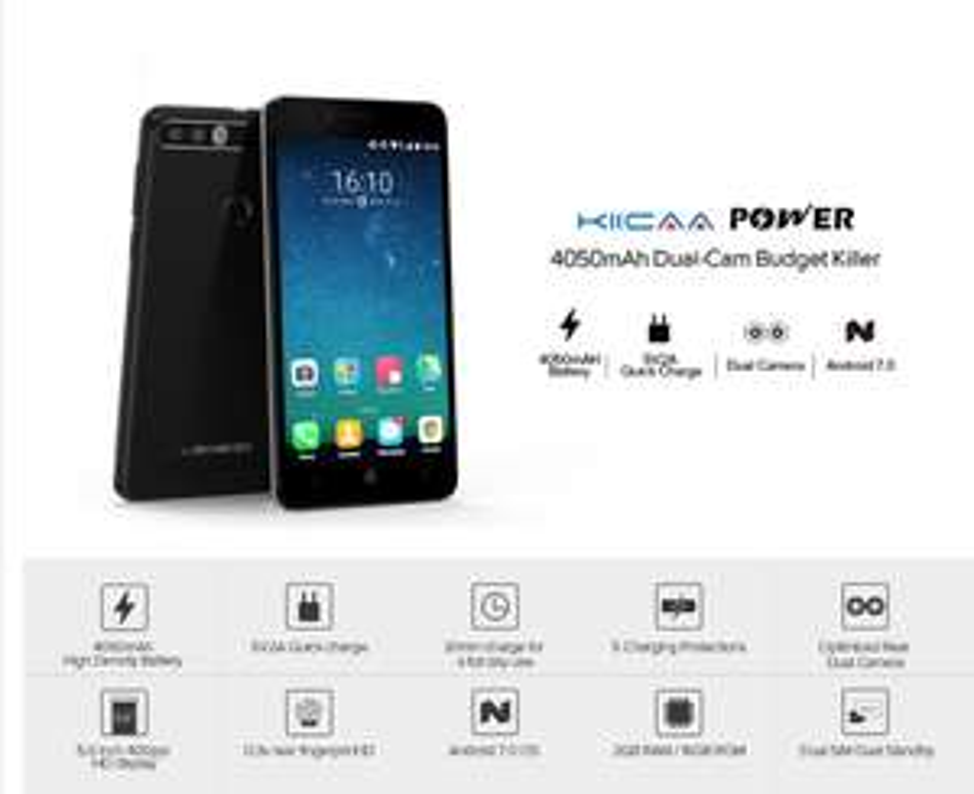 LEAGOO KIICAA POWER Android 7.0 3G Phone w/ 2GB RAM, 16GB ROM , 4050mAh Large Battery $59,99