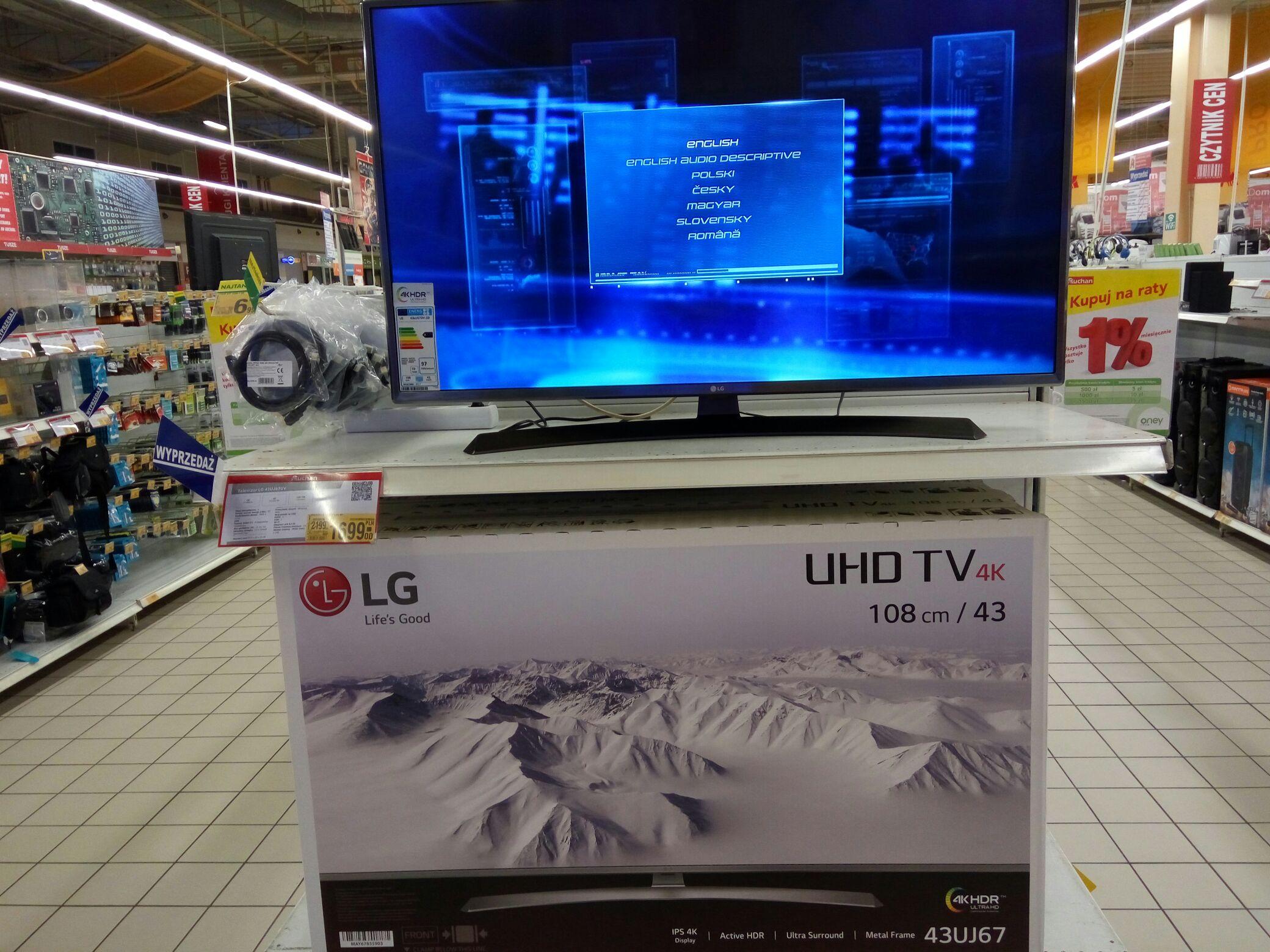 Promocja Telewizor LG 43UJ670V