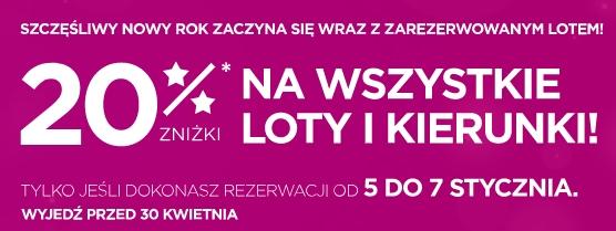 Wizz Air - 20% zniżki na wszystkie loty