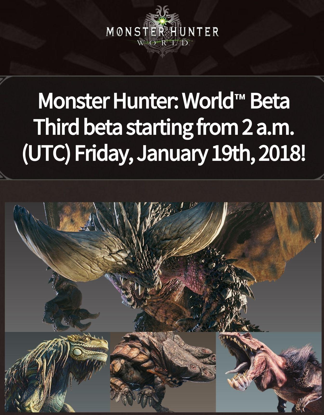 Darmowa Beta Monster Hunter dla PS4
