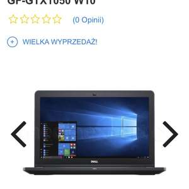 Laptop Dell i5-7300 256ssd gtx1050 w10