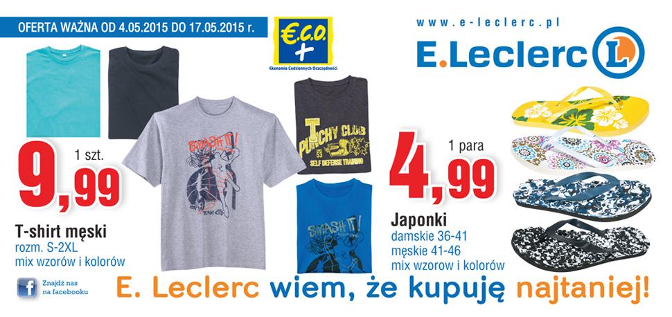 T-shirty męskie po 9,99zł @ E.Leclerc