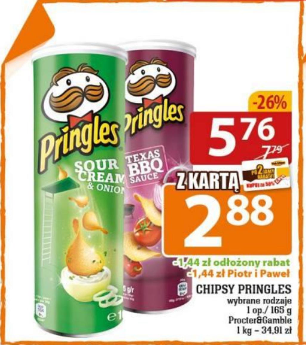 Pringles 165g wybrane rodzaje, z kartą 2.88 zł