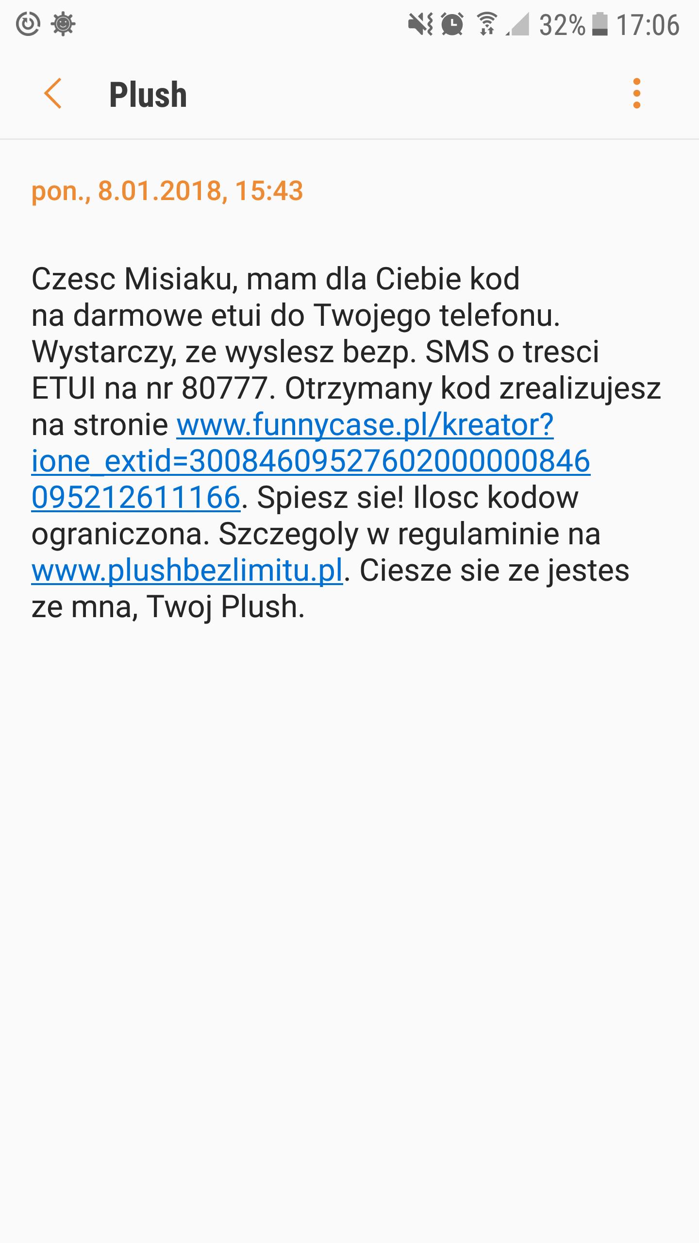 DARMOWE SPERSONALIZOWANE ETUI NA TELEFON @ PLUSH