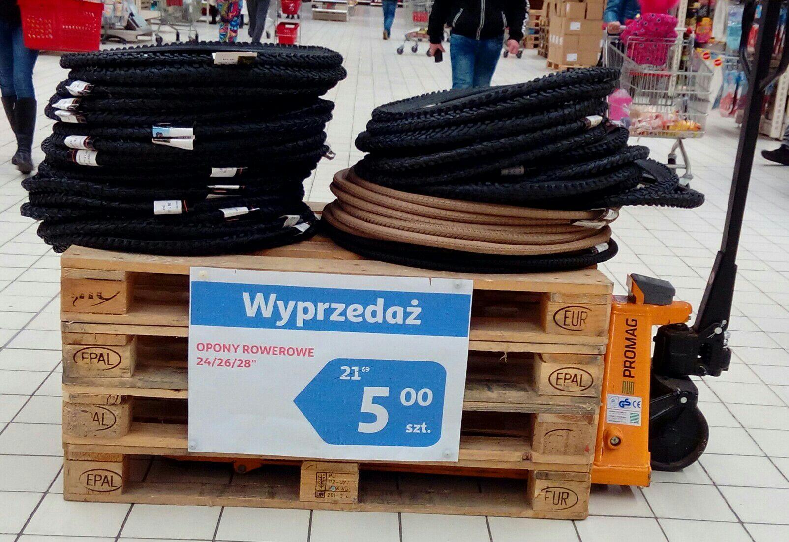 "Opony rowerowe 24""/26""/28"" - Auchan Katowice"