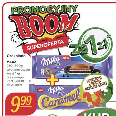 2x czekolady Milka (250g-300g) za 11zł @ Carrefour