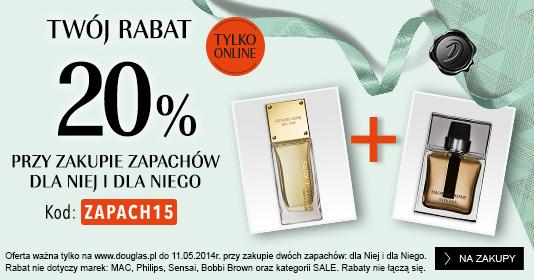 -20% na perfumy + gratis do zakupów @ Douglas