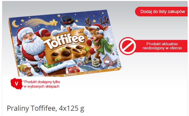 Toffifee 4x125g za 9.99zl